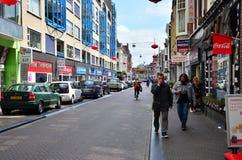 Haag Nederländerna - Maj 8, 2015: Folket besöker den Kina staden i Haag, Nederländerna Fotografering för Bildbyråer