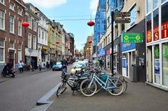 Haag Nederländerna - Maj 8, 2015: Folket besöker den Kina staden i Haag, Netherlandsà ¹ƒ Arkivbilder