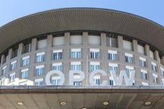Haag Haag/Nederländerna - 02 07 18: Organisation för förbudet av kemiska vapen som bygger i Haag netherland fotografering för bildbyråer