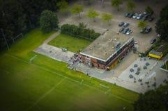Haag NL i lutande-förskjutning miniatyr Arkivfoton