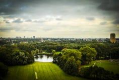 Haag NL i lutande-förskjutning miniatyr Arkivbilder