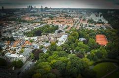 Haag NL i lutande-förskjutning miniatyr Royaltyfria Foton