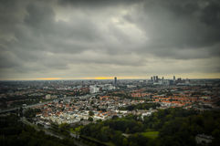 Haag NL i lutande-förskjutning miniatyr Fotografering för Bildbyråer