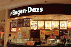 haagen-Dazs Lody Fotografia Stock