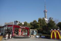 Haagen-Dazs  with Mcdonald's in Shanghai Stock Photo