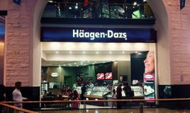 Haagen dazs. Store in dubai mall royalty free stock image
