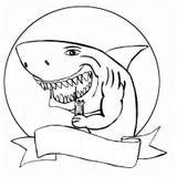 Haai met walkie-talkie royalty-vrije illustratie