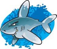 Haai van het uiteinde van het beeldverhaal Oceanic Witte vector illustratie