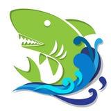 Haai in water grafisch art. Royalty-vrije Stock Fotografie