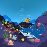 Haaien en oceanic vector illustratie