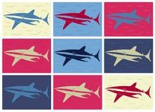 Haaipop-art Royalty-vrije Stock Afbeeldingen