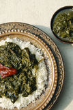 Haak Kashmir spinach from India Stock Photo