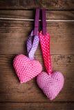 Haak mooie harten Stock Afbeeldingen