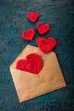 Haak valentijnskaartharten Royalty-vrije Stock Fotografie