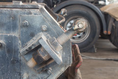 Haak van het aanhangwagen de Achterslepen voor landvervoer royalty-vrije stock afbeeldingen
