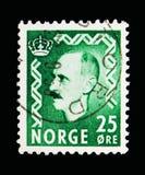 Haakon国王VII, serie,大约1956年 免版税库存图片
