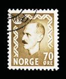 Haakon国王VII, serie,大约1956年 库存照片