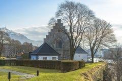 Haakons Hall in Bergenhus-Festung in Bergen, Norwegen lizenzfreie stockfotos