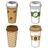Haal de illustratiereeks weg van de koffiekop Stock Afbeelding