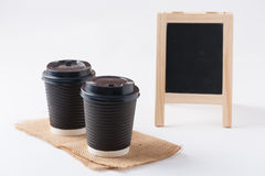 Haal koffiekop weg Stock Foto
