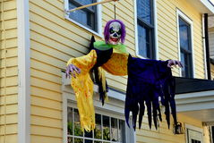 Haalloween Decorations on Private Home Stock Photos