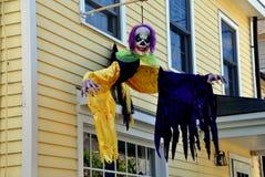 Haalloween dekoracje na prywatnym domu Zdjęcia Stock