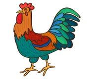 Haan Volwassen mannelijke kippen vectorillustratie Royalty-vrije Stock Fotografie