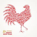 Haansilhouet met Chinese Tekens en Symbolen Royalty-vrije Stock Foto