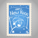 Haappy New Year stamp Royalty Free Stock Photo