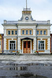 Haapsalu Estland, Europa, järnvägsstationen Arkivfoton