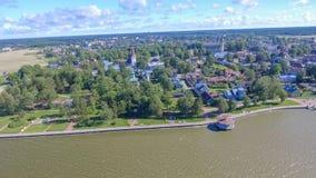 Haapsalu Estland Härlig flyg- sikt i sommarsäsong Royaltyfri Fotografi