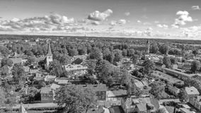 Haapsalu Estland Härlig flyg- sikt i sommarsäsong royaltyfri bild