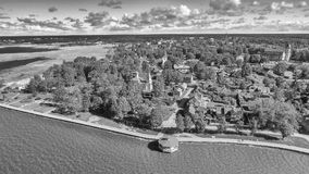 Haapsalu, Estonia. Beautiful aerial view in summer season.  stock image