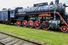 Haapsalu, estonia, europe, the railway station. View train railway station in haapsalu part of estonian railway museum Royalty Free Stock Photography