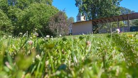 Haapsalu, Estonia Piękny miasto widok od ziemi obrazy stock