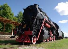 Haapsalu.A museum of steam locomotives. Stock Images