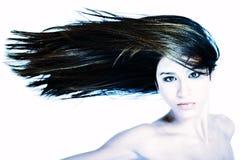Haar aan de linkerzijde Stock Fotografie