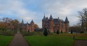 Haar Castle Panorama Utrecht Netherlands immagine stock libera da diritti