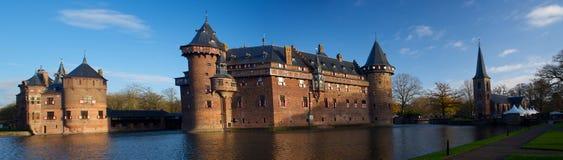 Haar Castle Panorama Utrecht Netherlands fotografie stock libere da diritti