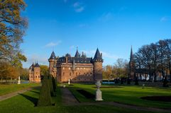 Haar Castle Panorama Utrecht Netherlands stock photo
