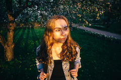 Haar in der Sonne Stockfotografie