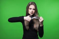 Haar en hoofdhuidprobleem Stock Foto