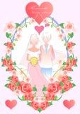 Haar huwelijk Stock Afbeeldingen