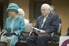 Haar Majesteit Koningin Elizabeth II en Cheney Stock Foto's