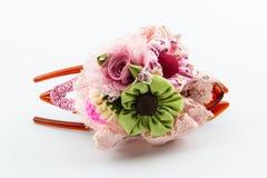 Haar roze klem, toebehoren voor vrouwen stock afbeeldingen
