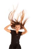 Haar und Wind Stockfoto