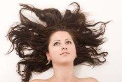 Haarblume lizenzfreie stockbilder