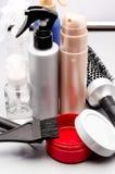 haarborstel en haarbalsems Stock Foto