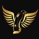 Haarclipper en vleugels royalty-vrije illustratie