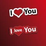 haard stickers I houden van u Stock Afbeelding